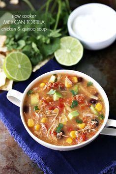 Slow Cooker Mexican Tortilla Soup