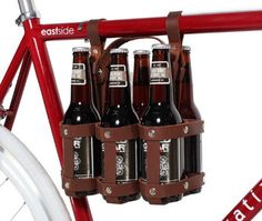 Ditch the flimsy cardboard your beer comes in and gently slide your ale into the locally made leather harness