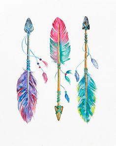 Jul 2019 - Boho Chic Nursery Wall Art Boho Tribal Nursery Arrows and Arrow Nursery, Tribal Nursery, Nursery Wall Art, Chic Nursery, Nursery Decor, Arrow Feather, Feather Art, Indian Feather Tattoos, Tribal Feather