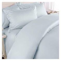 MARRIKAS 300TC Egyptian Cotton QUEEN Duvet Cover BLUE SOLID by Marrikas. $62.99. Easy Care Machine Wash and Dry. 300TC Egyptian Cotton QUEEN SOLID BLUE Duvet Cover. Cover Measures 90x90. Coordinating Sheet Sets Available. One brand new QUEEN Duvet Cover. Color is BLUE SOLID. Duvet Cover measures 90x90 and has a reverse button closure for easy on and off of your favorite comforter. Cases sold separately. Made of the finest 300TC Egyptian long staple cotton that actual...