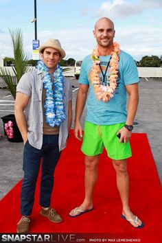 The Almighty Johnsons (official) Jared and Ben on the red carpet