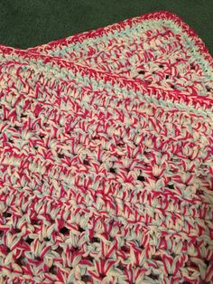 For River, another version of Super Quick Throw by Red Heart (with 2 rows of 2 strand dc for a border) http://www.redheart.com/free-patterns/super-quick-throw