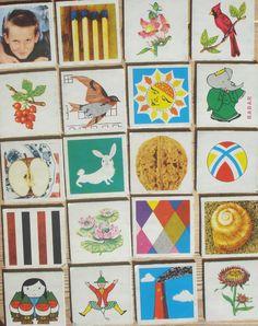 Vintage memory kaarten, 20 stuks, 1959, 5,5 x 5,5 cm, Ravensburger, karton, hobbymateriaal  [a] by LabelsAndMore on Etsy