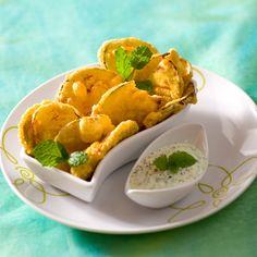 Découvrez la recette des beignets d'aubergines à l'indienne