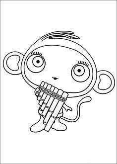 Waybuloo Fargelegging for barn. Tegninger for utskrift og fargelegging nº 11