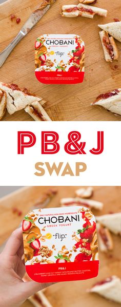 Peanut butter and jelly has met it's match. Check out PB&J Chobani Greek Yogurt Flip. All the deliciousness of a peanut butter and jelly sandwich with only natural ingredients. Added bonus – no need to waste time cutting crusts. Win, win