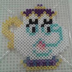 sandylandya.Mrs Potts Disney perler beads by Eleka Peka