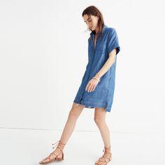Denim Drop-Hem Shirtdress | Madewell