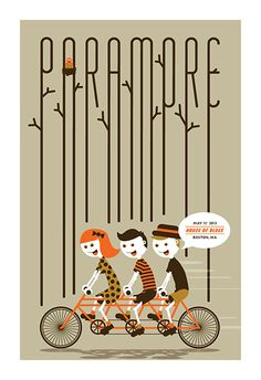 Paramore gig poster by Karl & Krew http://jungleindierock.tumblr.com/post/64919939859/paramore-poster