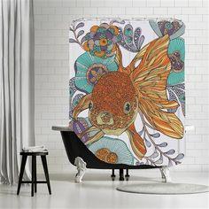 Valentina Ramos - Little fish, Shower Curtain, 180x180