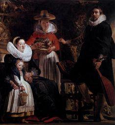 Autoritratto con la famiglia by Jacob Jordaens Museo del Prado, Madrid