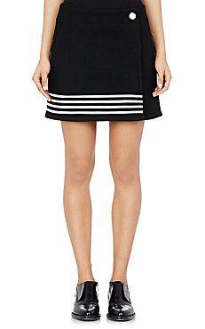 Paco Rabanne Wrap-Front Miniskirt