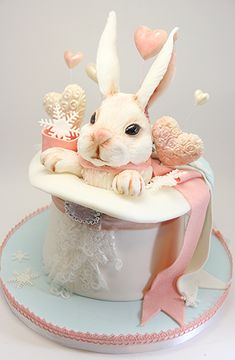 Sunday Sweets: Some Bunnies To Love — Cake Wrecks Fancy Cakes, Cute Cakes, Pretty Cakes, Beautiful Cakes, Amazing Cakes, Cake Wrecks, Fondant Cakes, Cupcake Cakes, Decoration Patisserie