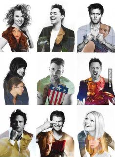 The avengers.but loki a.a Tom Hiddleston. My that smile. Those lips yummy! Marvel Dc Comics, Marvel Avengers, Avengers Cast, Marvel Memes, Avengers Actors, Avengers Team, Avengers Poster, Avengers Characters, Captain Marvel
