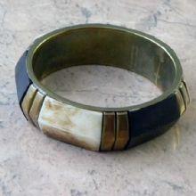 Antique style chunky bone bangle