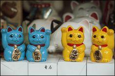 Maneki-neko. Japanese lucky charm to call in customers!