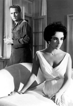 Paul Newman and Elizabeth Taylor- Tennessee Williams' Cat On A Hot Tin Roof