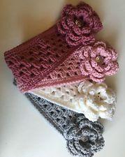 Banda Diadema Cinta Bebé con Flor Diamante 3 Meses Hecho A Mano Crochet | eBay