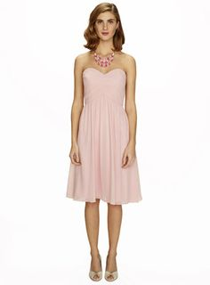 Darcy Ballet Pink Short Dress by BHS Also available in mint, navy and fuchsia Dusky Pink Bridesmaid Dresses, Baby Pink Dresses, Beautiful Bridesmaid Dresses, Wedding Bridesmaids, Wedding Dresses, Pastel Wedding Colors, Pastel Pink, Occasion Dresses, Short Dresses