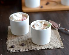 Nutella and eggnog: together in one delicious warm drink? Amazing.