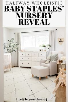 Visit here to see this nursery reveal on Halfway Wholeistic! Boy nursery ideas themes color schemes inspiration boards. Nursery ideas neutral color palettes inspiration. Nursery decor boy grey room ideas. Nursery ideas neutral gray and white. Baby boy nursery room ideas themes color schemes. Nursery ideas boy rustic modern. Nursery decor neutral paint colors. Baby nursery ideas neutral grey room decor. Gender neutral nursery decor ideas. #nursery #home #decor Boy Nursery Themes, Baby Boy Nurseries, Nursery Room, Nursery Ideas, Room Ideas, Decor Ideas, Neutral Nursery Colors, Neutral Paint, Grey Room Decor