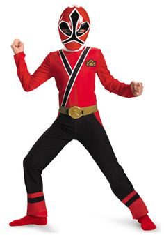 Child Red Power Ranger Samurai costume #Halloween #Ideas