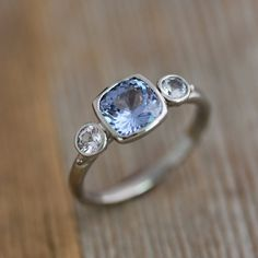 Periwinkle Blue Spinel14k Palladium White Gold by onegarnetgirl, $2198.00