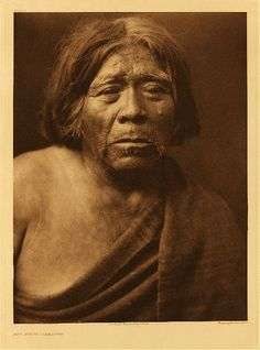 """Mat Stams - Maricopa, 1907. Photogravure. Curtis Caption: """"This individual exhibits strongly the characteristics of the Yuman stock to which he belongs."""""""