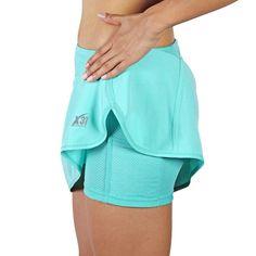 Running Skirt, Skort with Shorts and Zipper Pocket