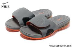 Latest Listing Discount Gray Orange Air Lebron Slide Sports Shoes Store