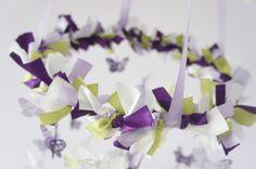 Butterfly Nursery Mobile in Purple Lavender by LovebugLullabies