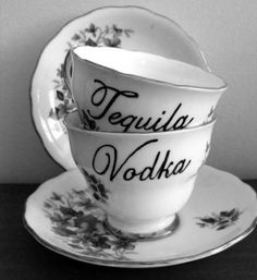 tequila & vodka teacups. I like it, even though I don't like either of those liquors too much...