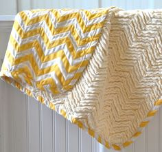 Yellow and Cream Chevron Chenille Blanket by wishberries on Etsy Chenille Blanket, Girl Nursery, Little Ones, Chevron, Quilts, Cream, Sewing, Trending Outfits, Yellow