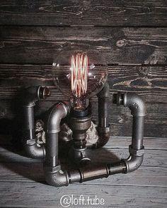 Освещение ручной работы. Ярмарка Мастеров - ручная работа. Купить Лампа настольная. Handmade. Лофт стиль, loft style