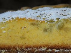 Ciasto kukurydziane z rabarbarem