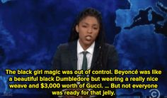 "micdotcom: "" Watch: Jessica Williams also explained why this shouldn't be a surprise. Jessica Williams, The Daily Show, Explain Why, Brown Skin, Black Girl Magic, Current Events, Beyonce, Knowing You, Brown Leather"