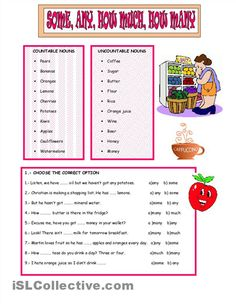 some and any worksheets printable