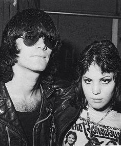 Dee Dee Ramone and Joan Jett, 1976