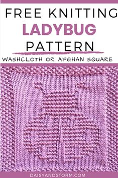 Free Garden Themed Dishcloth and Afghan Squares Knitting Patterns Knitted Dishcloth Patterns Free, Knitting Squares, Knitted Washcloths, Knitting Machine Patterns, Knit Dishcloth, Easy Knitting Patterns, Knitted Blankets, Knitting Projects, Stitch Patterns
