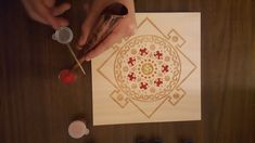 Yes - this mandala is being filled with sand. It is part of Sand Mandala Art (SMArt) Meditation - where art and meditation combine. Get your set on our Etsy store to get started! Mindfulness Art, Mandala Art, Etsy Store, Meditation, Etsy Seller, How To Get, Colorful, Gift Ideas, Create
