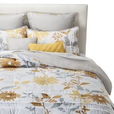 Felicity Pleated Floral 8 Piece Comforter Set