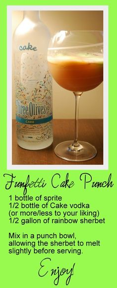 Funfetti Cake Punch- this sounds amazing!