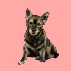 背景ピンクバージョン Drawings, Dogs, Animals, Animales, Animaux, Pet Dogs, Sketches, Doggies, Animal
