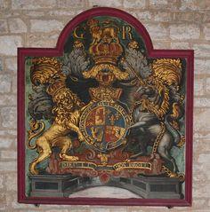 The Hanoverian Royal Arms of Great Britain in Tickhill Parish Church.