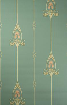 Jugendstil Tapete — Art Nouveau wallpaper pattern