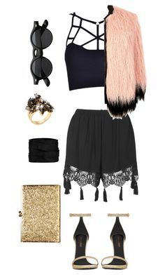 """""""Furtunos"""" by tekla-476 ❤ liked on Polyvore featuring Yves Saint Laurent, Topshop, River Island, Erickson Beamon and The Row"""