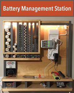 Create a battery station that not only organizes batteries, but provides a central and convenient charging station as well.