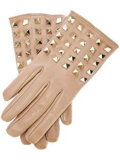 VALENTINO GARAVANI 'Rockstud' Leather Gloves