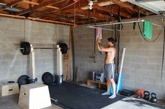 Home Gym Ideas. Home garage gym.