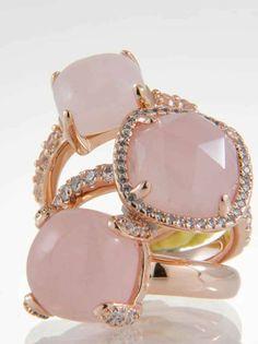 Bronzallure rose gold rings